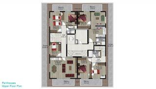 Квартира с 4 Спальнями в Алании, Планировка -4