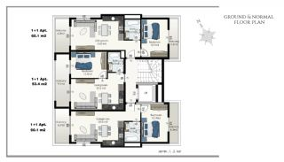Ready Apartments in Alanya 100 mt to Cleopatra Beach, Property Plans-2