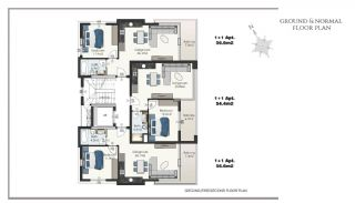 Ready Apartments in Alanya 100 mt to Cleopatra Beach, Property Plans-6