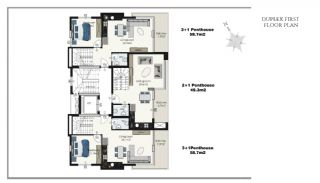 Ready Apartments in Alanya 100 mt to Cleopatra Beach, Property Plans-7
