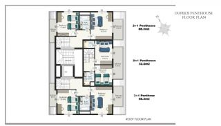 Ready Apartments in Alanya 100 mt to Cleopatra Beach, Property Plans-8