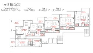 5-Star Hotel Concept Apartments in Alanya, Property Plans-1