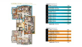 Luxury Apartments for Sale in Alanya City Center, Property Plans-2
