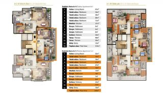 Luxury Apartments for Sale in Alanya City Center, Property Plans-3