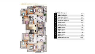 Luxury Apartments for Sale in Alanya City Center, Property Plans-4