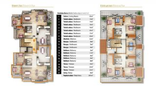 Luxury Apartments for Sale in Alanya City Center, Property Plans-5