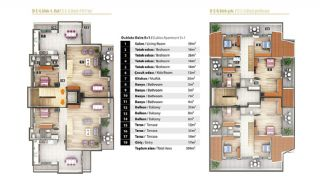 Luxury Apartments for Sale in Alanya City Center, Property Plans-7