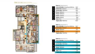 Luxury Apartments for Sale in Alanya City Center, Property Plans-8