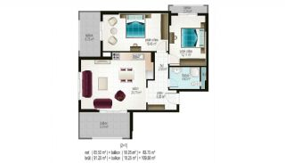 Ready Apartments in Alanya for Sale, Property Plans-1