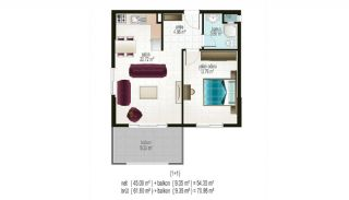 Ready Apartments in Alanya for Sale, Property Plans-2