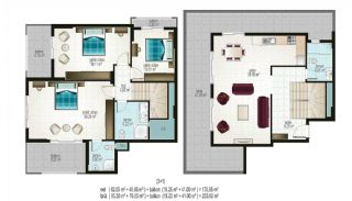 Ready Apartments in Alanya for Sale, Property Plans-3