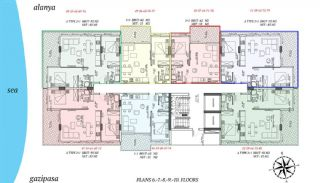 Beachfront Alanya Apartments in Mahmutlar, Property Plans-2