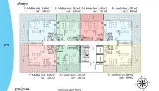 Beachfront Alanya Apartments in Mahmutlar, Property Plans-4