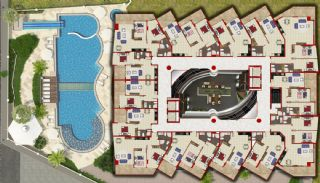 Qualitäts Wohnungen in Alanya mit Panorama-Meerblick, Immobilienplaene-2