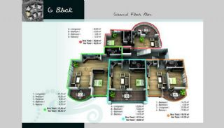 Turnkey Properties with Castle and Sea View in Alanya, Property Plans-11