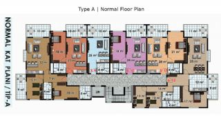 Stylish Designed Key-Ready Apartments in Alanya Turkey, Property Plans-1