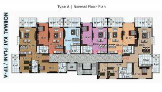 آپارتمان آماده تحویل با طراحی شیک در آلانیا، ترکیه, پلان ملک-1