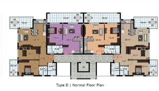 آپارتمان آماده تحویل با طراحی شیک در آلانیا، ترکیه, پلان ملک-4
