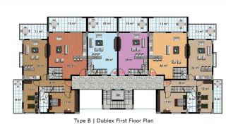 آپارتمان آماده تحویل با طراحی شیک در آلانیا، ترکیه, پلان ملک-5