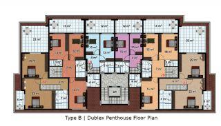 آپارتمان آماده تحویل با طراحی شیک در آلانیا، ترکیه, پلان ملک-6