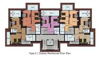 آپارتمان آماده تحویل با طراحی شیک در آلانیا، ترکیه, پلان ملک-8