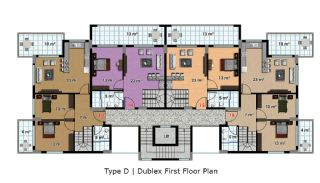 آپارتمان آماده تحویل با طراحی شیک در آلانیا، ترکیه, پلان ملک-9