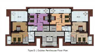 آپارتمان آماده تحویل با طراحی شیک در آلانیا، ترکیه, پلان ملک-10