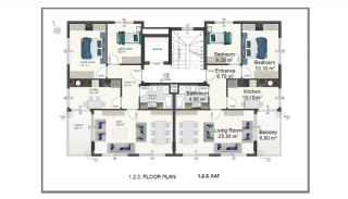 Alanya Apartments Walking Distance to Cleopatra Beach, Property Plans-3