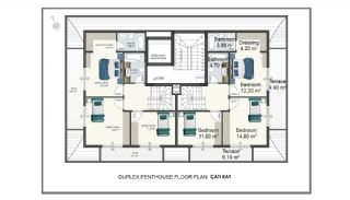 Alanya Apartments Walking Distance to Cleopatra Beach, Property Plans-5
