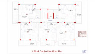Central Apartments in Kargicak Short Distance to the Sea, Property Plans-14