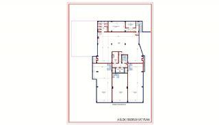 Kvalitet Lägenheter med Rik Infrastruktur i Alanya, Planritningar-1