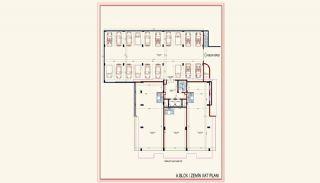 Kvalitet Lägenheter med Rik Infrastruktur i Alanya, Planritningar-2