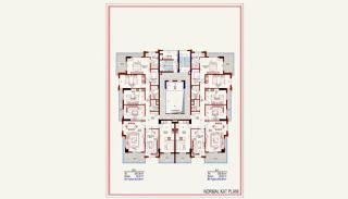 Kvalitet Lägenheter med Rik Infrastruktur i Alanya, Planritningar-3