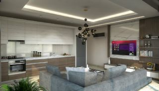 New Alanya Apartments Near the Coastal Road in Kargicak, Interior Photos-1