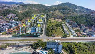 Nieuwe Alanya Appartementen Dichtbij Kustweg|Kargicak, Vloer Plannen-1