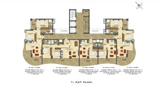 Quality Apartments Close to the Sea in Alanya Mahmutlar, Property Plans-1