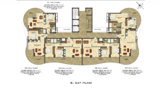 Quality Apartments Close to the Sea in Alanya Mahmutlar, Property Plans-3