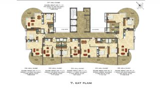 Quality Apartments Close to the Sea in Alanya Mahmutlar, Property Plans-4