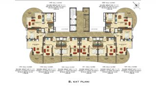 Quality Apartments Close to the Sea in Alanya Mahmutlar, Property Plans-5