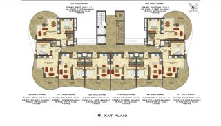 Quality Apartments Close to the Sea in Alanya Mahmutlar, Property Plans-6