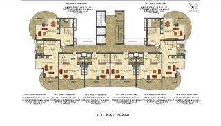 Quality Apartments Close to the Sea in Alanya Mahmutlar, Property Plans-8