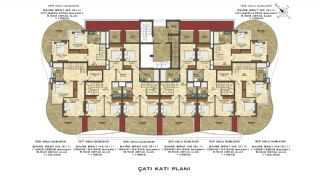 Quality Apartments Close to the Sea in Alanya Mahmutlar, Property Plans-9