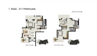 Advantageous Apartments Close to the Sea in Alanya, Property Plans-2