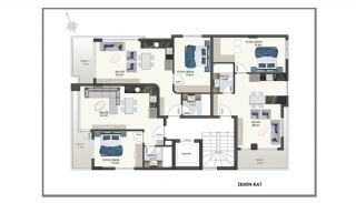 Modern Apartments 150 mt to Cleopatra Beach in Alanya, Property Plans-2