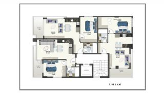 Modern Apartments 150 mt to Cleopatra Beach in Alanya, Property Plans-3