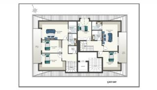 Modern Apartments 150 mt to Cleopatra Beach in Alanya, Property Plans-5