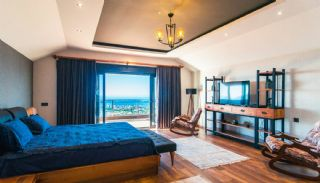 Glorious Sea and Castle View Triplex Villa in Alanya, Interior Photos-7