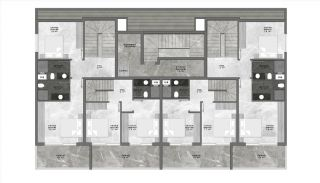 Centraal Gelegen Alanya Appartementen Boutique Project, Vloer Plannen-1