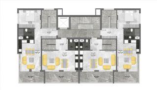 Centraal Gelegen Alanya Appartementen Boutique Project, Vloer Plannen-2