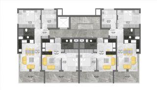 Centraal Gelegen Alanya Appartementen Boutique Project, Vloer Plannen-3